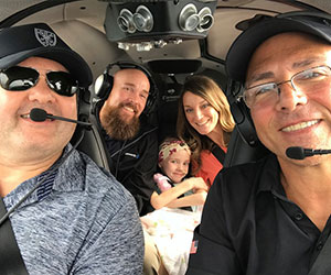 Pilots flying a family to get their little girl to a doctor - Angel Flight Soars