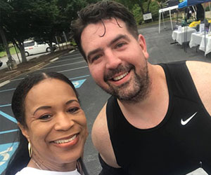 Friends at a fun run - Live Healthy and Thrive Youth Foundation