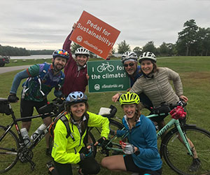 Group of friends participating in a fundraising biking event - Ceres
