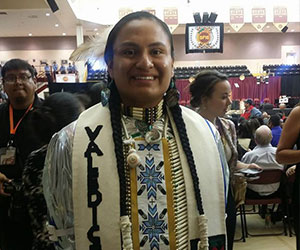 American Indian student at his graduation ceremony - American Indian Graduate Center