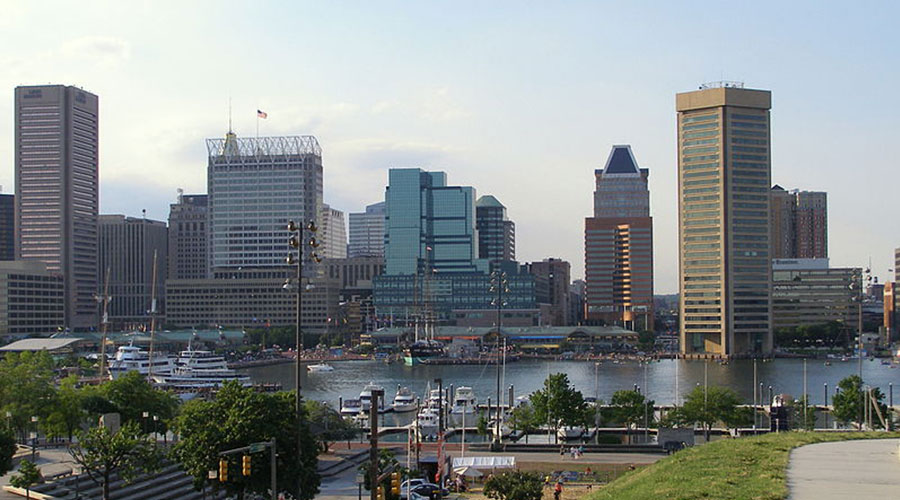 Baltimore skyline - JJS Photo - via Wikimedia Commons