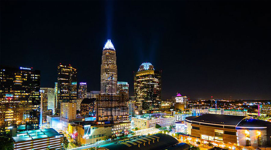 Charlotte Skyline by Nan Palmero via Wikimedia Commons