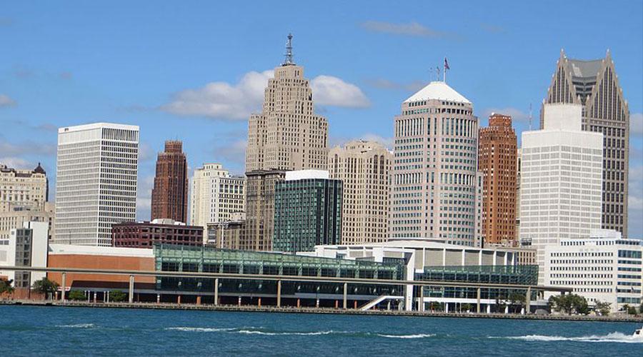 Detroit skyline - anonymous - via Wikimedia Commons