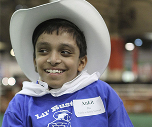 Little boy in a cowboy costume, Family to Family Network