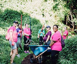 Volunteers gardening - The Samaritan Women