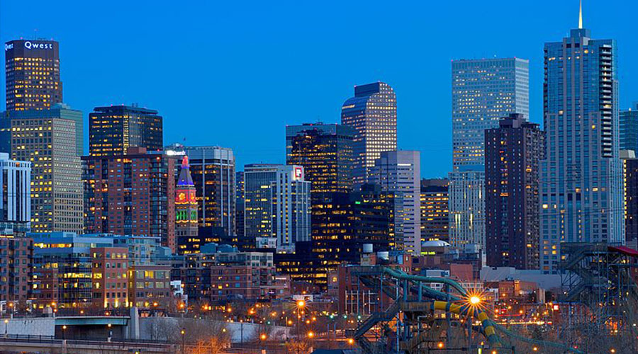 Denver Colorado Skyline by Larry Johnson via Wikimedia Commons