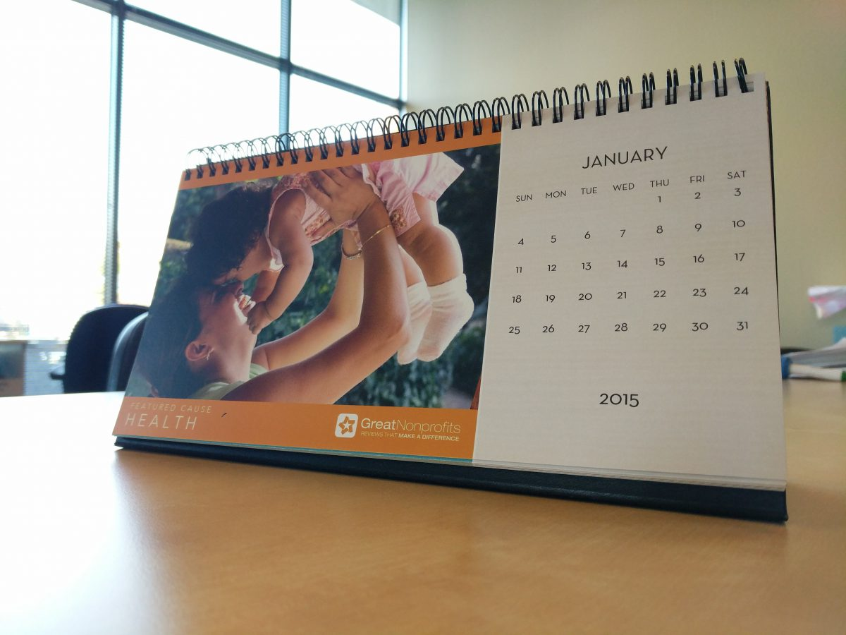 GreatNonprofits Calendar
