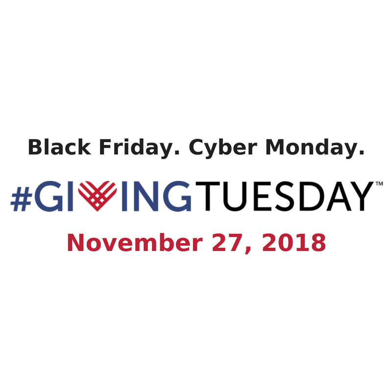 Giving Tuesday logo - Black Friday Cyber Monday header