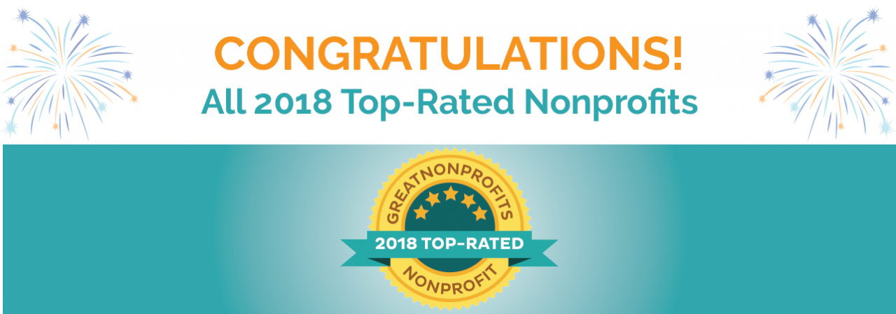 Congratulations to our 2018 Top-Rated Nonprofits!