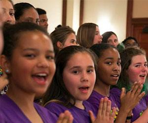Oakland youth chorus performing---Oakland Youth Chorus