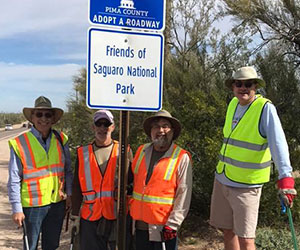 Volunteers doing a clean-up at the-park Friends of Saguaro National Park Inc