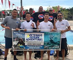 Volunteers hosted a scuba class for veterans Veterans Ocean Adventures