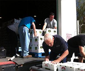 Volunteers preparing donations GAP Ministries