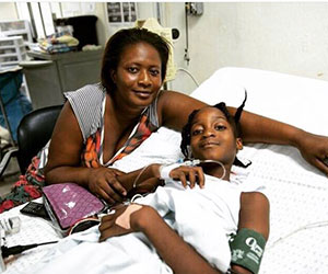 haitian girl receiving treatment for diabetes-- Project Medishare for Haiti
