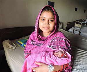 mom with her newborn infant HOPE Foundation for Women Children of Bangladesh