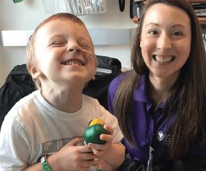 sick little boy with his mom - Children's Cancer Association