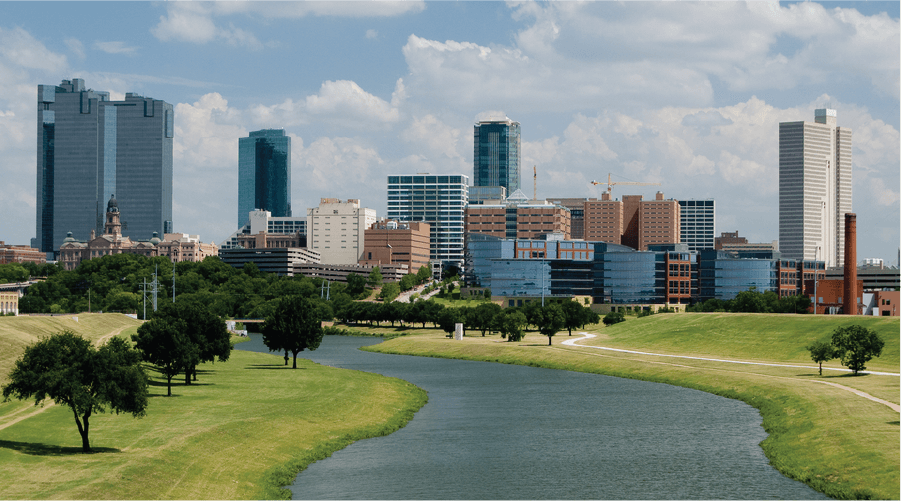 Fort Worth TX city skyline