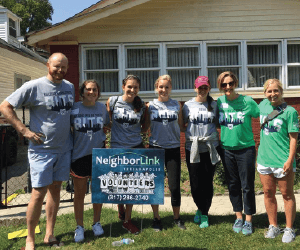 Volunteers wrapping up a house fix Neighborlink Indianapolis Foundation Inc