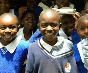 Young students smiling Deborah Amoi Foundation