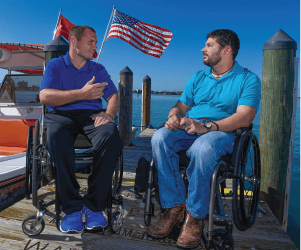 spending time with fellow warriors Wounded Warrior Project