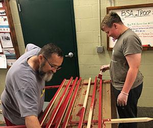 volunteers doing some carpentry Active Heroes