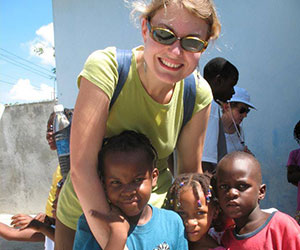 Volunteer at an outreach Haiti Micah Project Inc