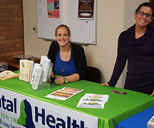 Volunteers at their booth Mental Health Association in Greensboro