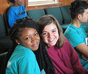 Young teen volunteers NCCJ of the Piedmont Triad