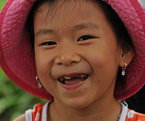 little girl smiling Children of Vietnam