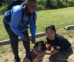 veterans training with their dog Vets To Vets United, Inc.
