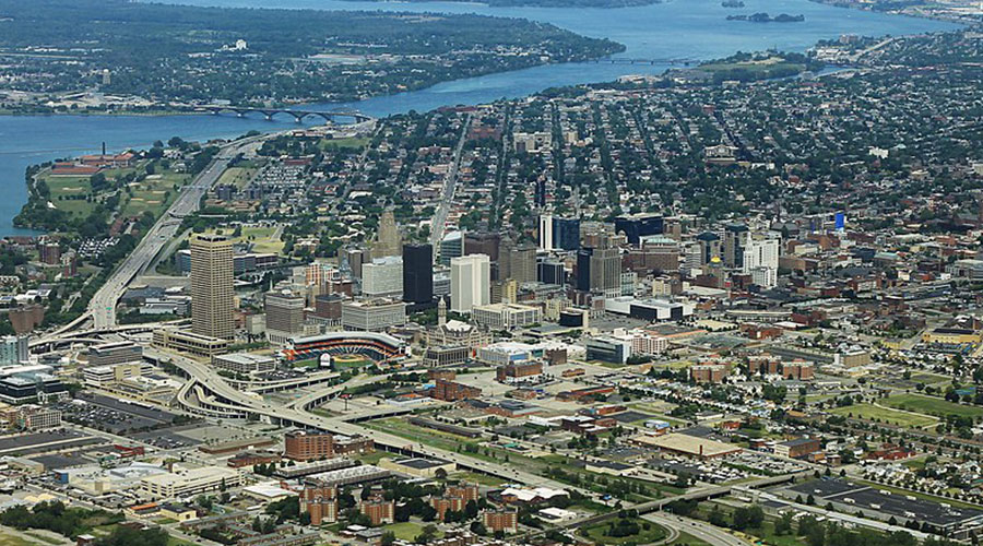 Buffalo NY skyline formulanone Wikimedia Commons