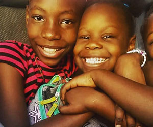 little girls smiling Child Hope International